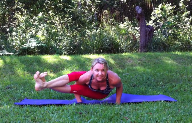 Astavakrasana (Eight Bend Balance) by Martine Ford of Spirit Yoga