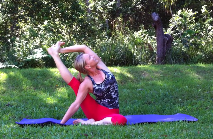 Compass Pose by Martine Ford of Spirit Yoga