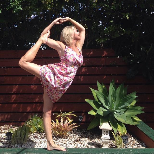 Dancers Pose Variation by Martine Ford of Spirit Yoga