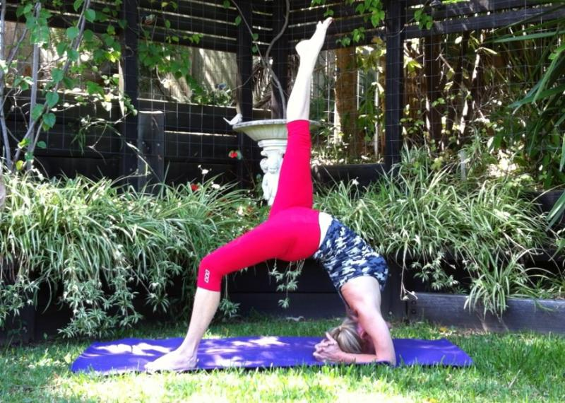Eka Pada Viparita Dandasana by Martine Ford of Spirit Yoga
