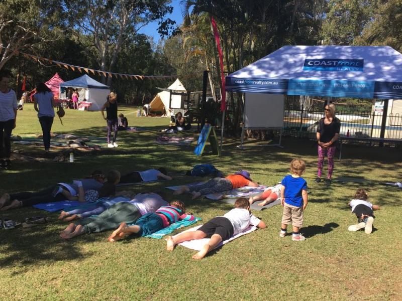 Kids Yoga class at Ekam Yoga Festival 2017