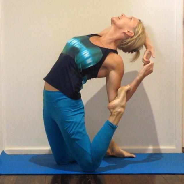 Funky Camel Pose by Martine Ford of Spirit Yoga