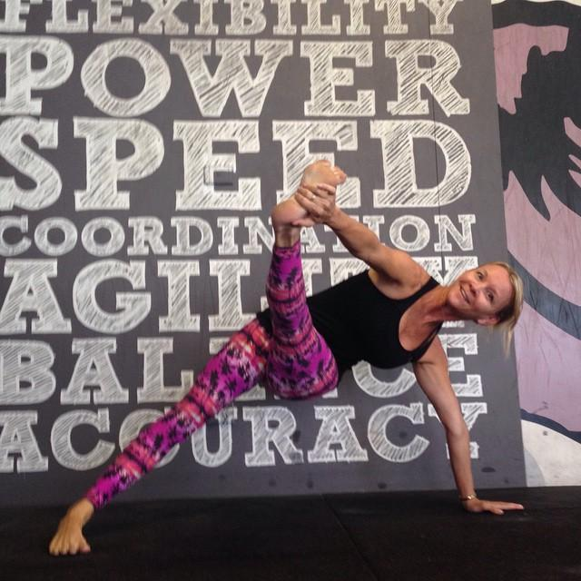 Funky Triange Pose by Martine Ford of Spirit Yoga