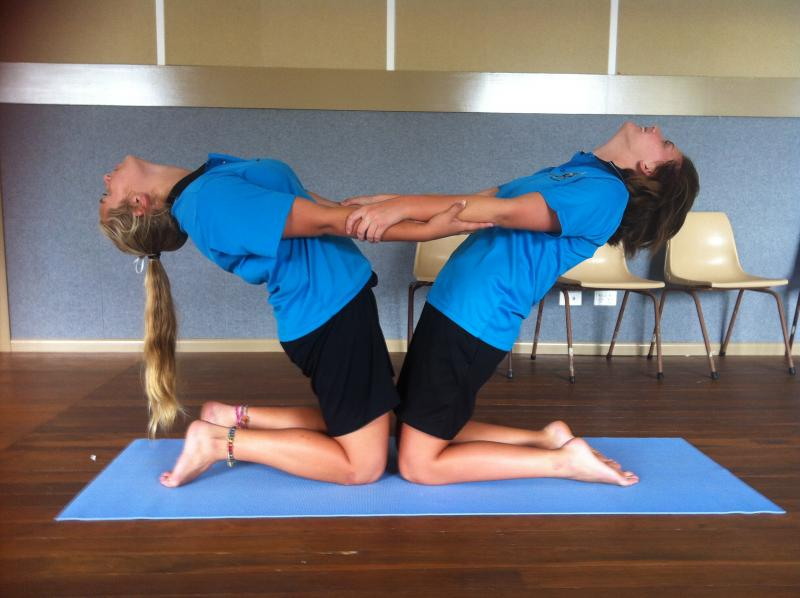 Teen Yoga At The Youth Hub Partner On Valentines Day