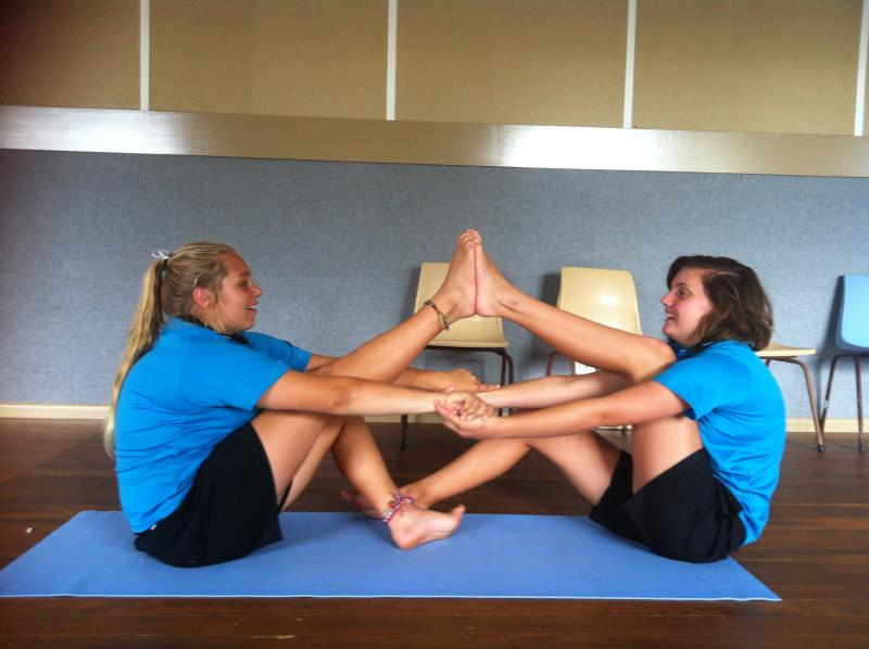 Teen Yoga at The Youth Hub, Partner Yoga on Valentines Day