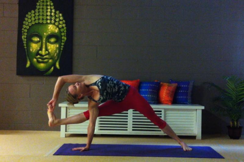 Visvamitrasana by Martine Ford of Spirit Yoga