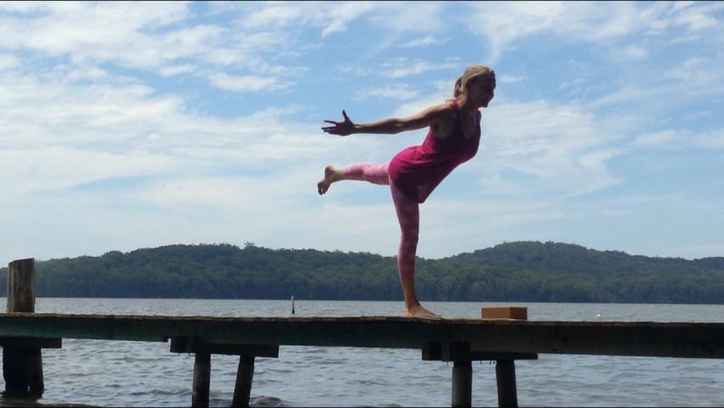 Dakasana (Airoplane Pose) by Martine Ford of Spirit Yoga