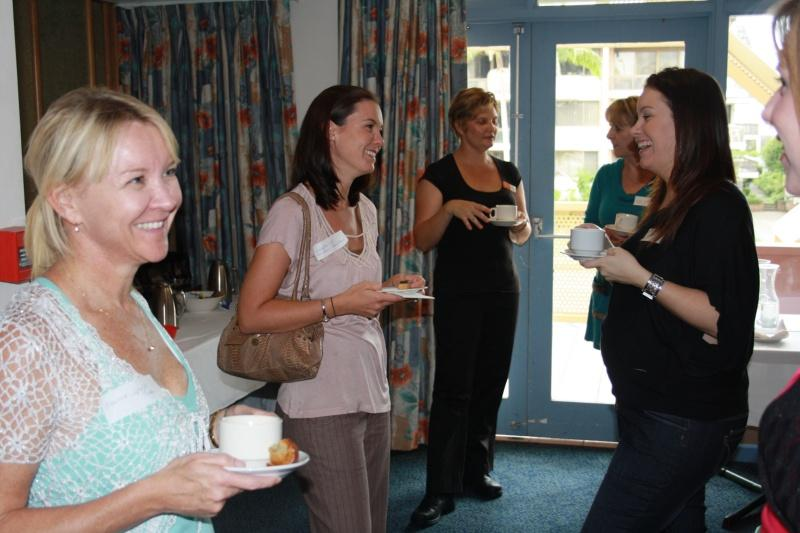 Ladies networking at the 'Me Time