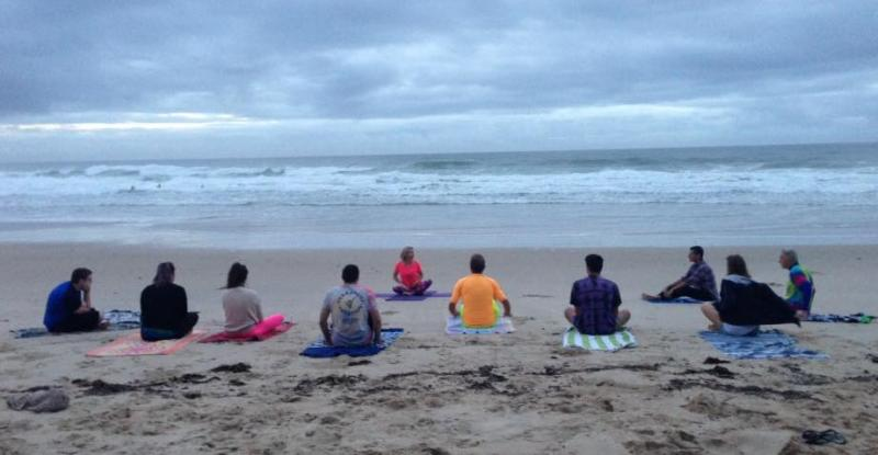 One Wave - Fluro Friday Sunrise Yoga session