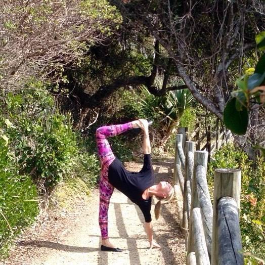 Sugar Cane Pose (ardha chandra chapasana) by Martine Ford of Spirit Yoga