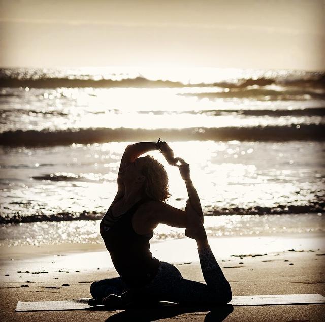 Mermaid Pose (Eka Pada Rajakapotasana) Town Beach