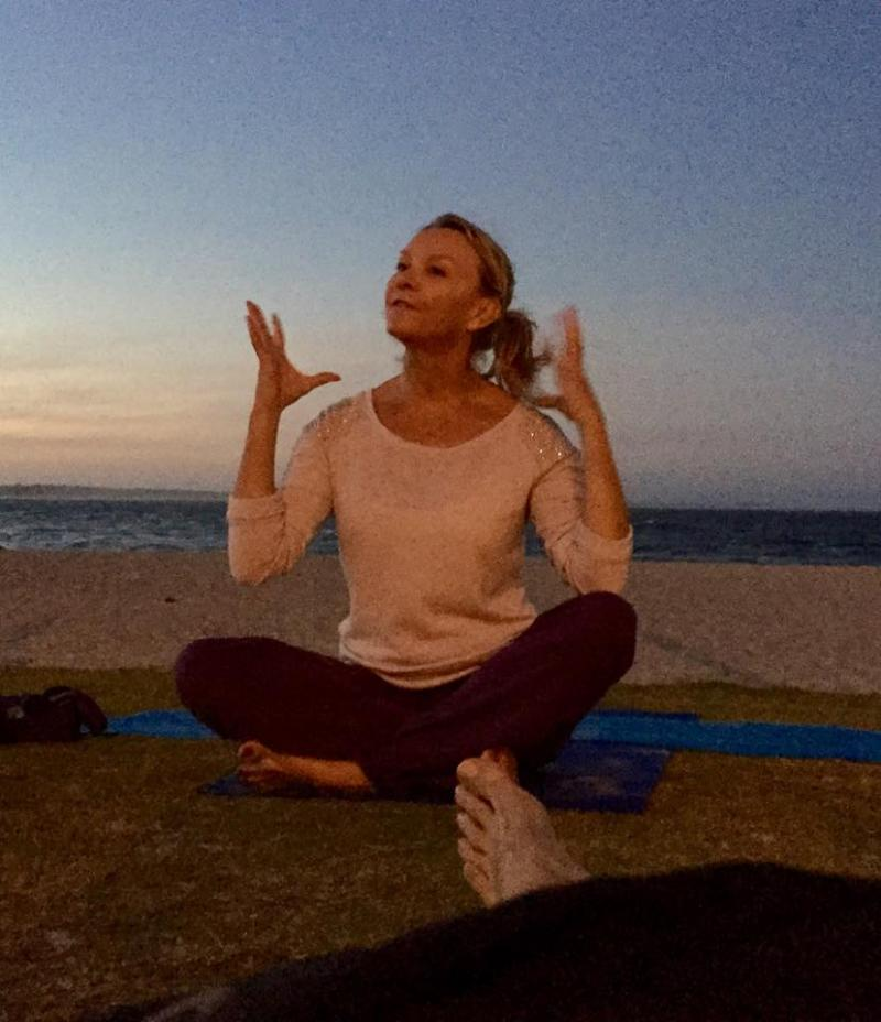 Beach Yoga: Image of Martine Ford of Spirit Yoga
