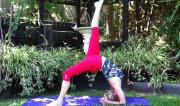 Eka Pada Viparita Dandasana by Martine Ford of Spirit Yoga