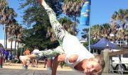 Funky Side Crow Pose by Martine Ford of Spirit Yoga