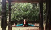 Straddle Pose (Upavista Konasana) by Martine Ford of Spirit Yoga