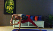 Visvamitrasana by Martine Ford of Spirit Yoga