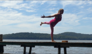 Dakasana (Airoplane Pose) by Martine Ford of Spirit Yoga
