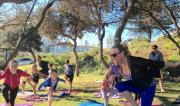 Kids yoga at Beach Yoga Port Macquarie & fundraiser for If We All Had Wings