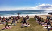 Lorna Jane's Active Day 2014 with teacher Martine Ford of Spirit Yoga