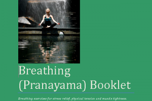 Martine Ford of Spirit Yoga on the Cover of the Breathing Booklet