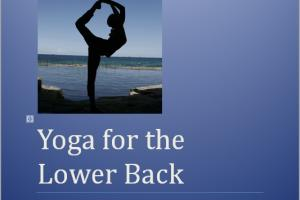 Front Cover for the Yoga for the Lower Back e-Book